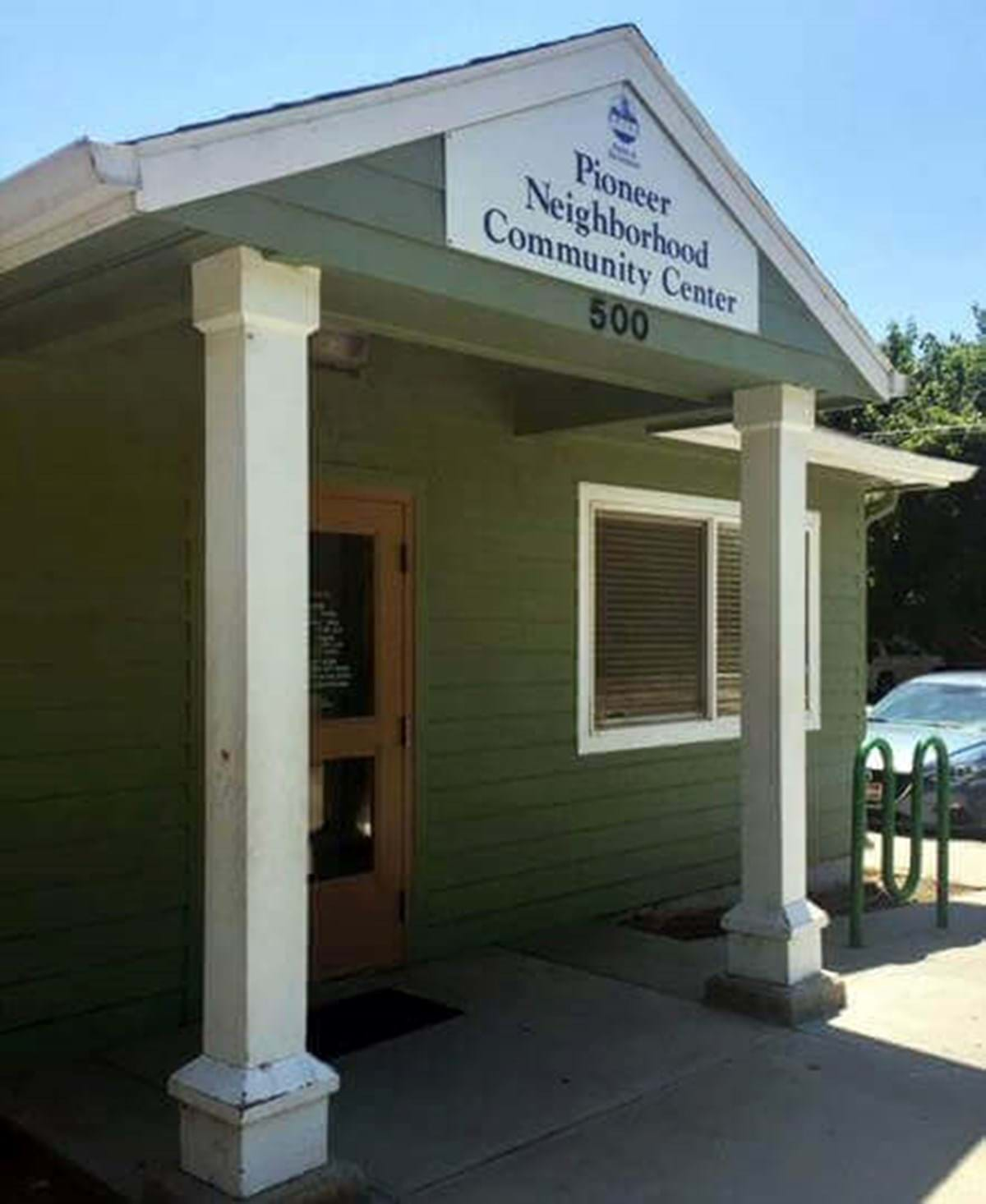 Pioneer Community Center entrance