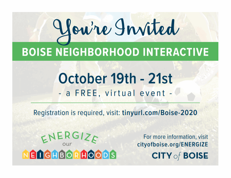 Neighborhood interactive invitation Oct 19-21