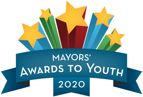 "Logo that reads ""Mayors' Awards to Youth 2020"""