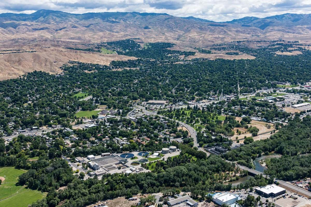 Aerial view of Boise