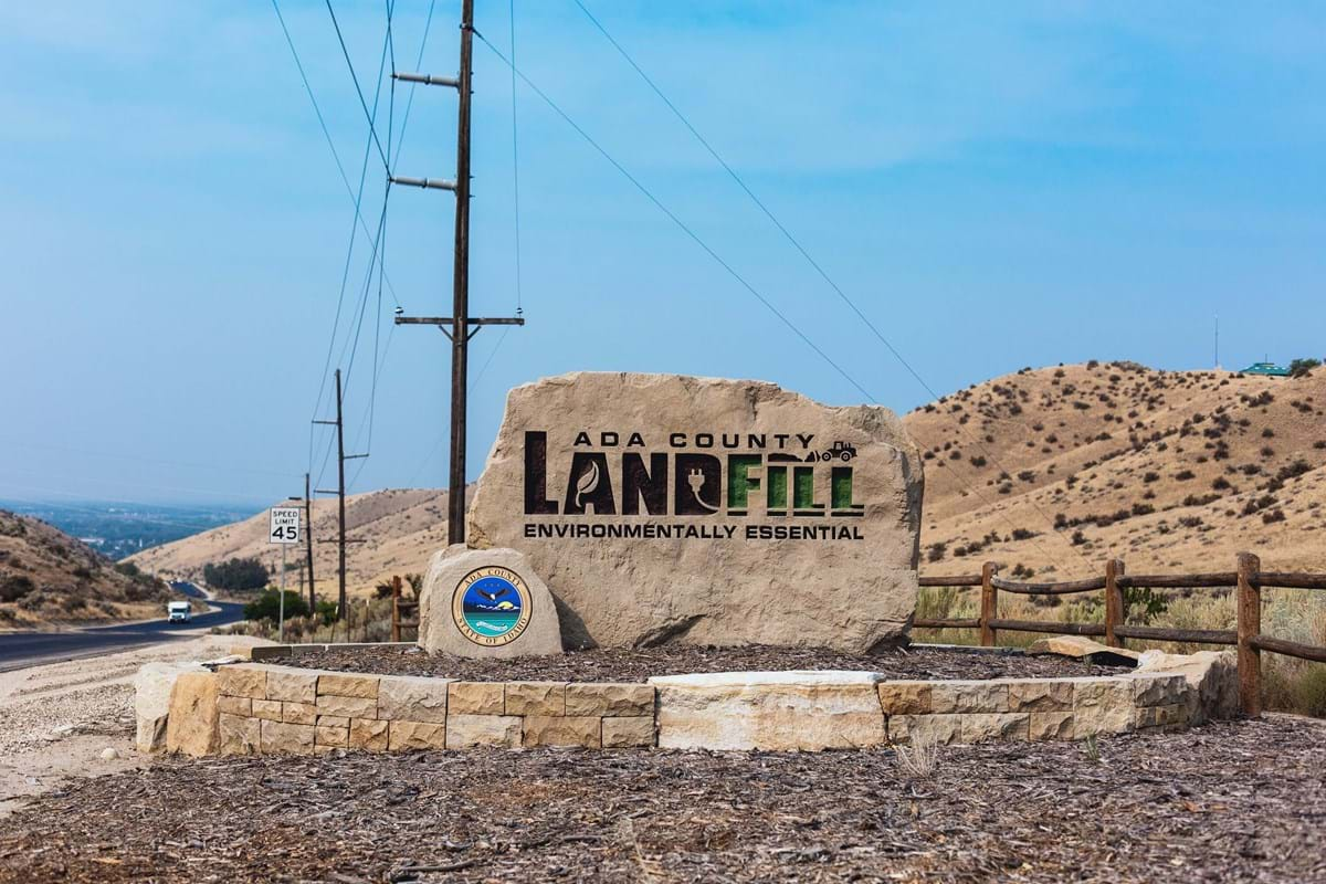 Sign for Ada County Landfill