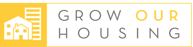 "Logo with text that reads ""Grow Our Housing"""