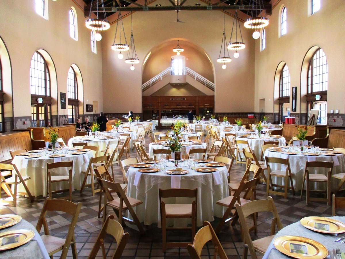 Special event set up in great hall