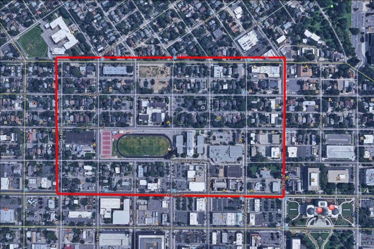 Boise High Special Parking District Map