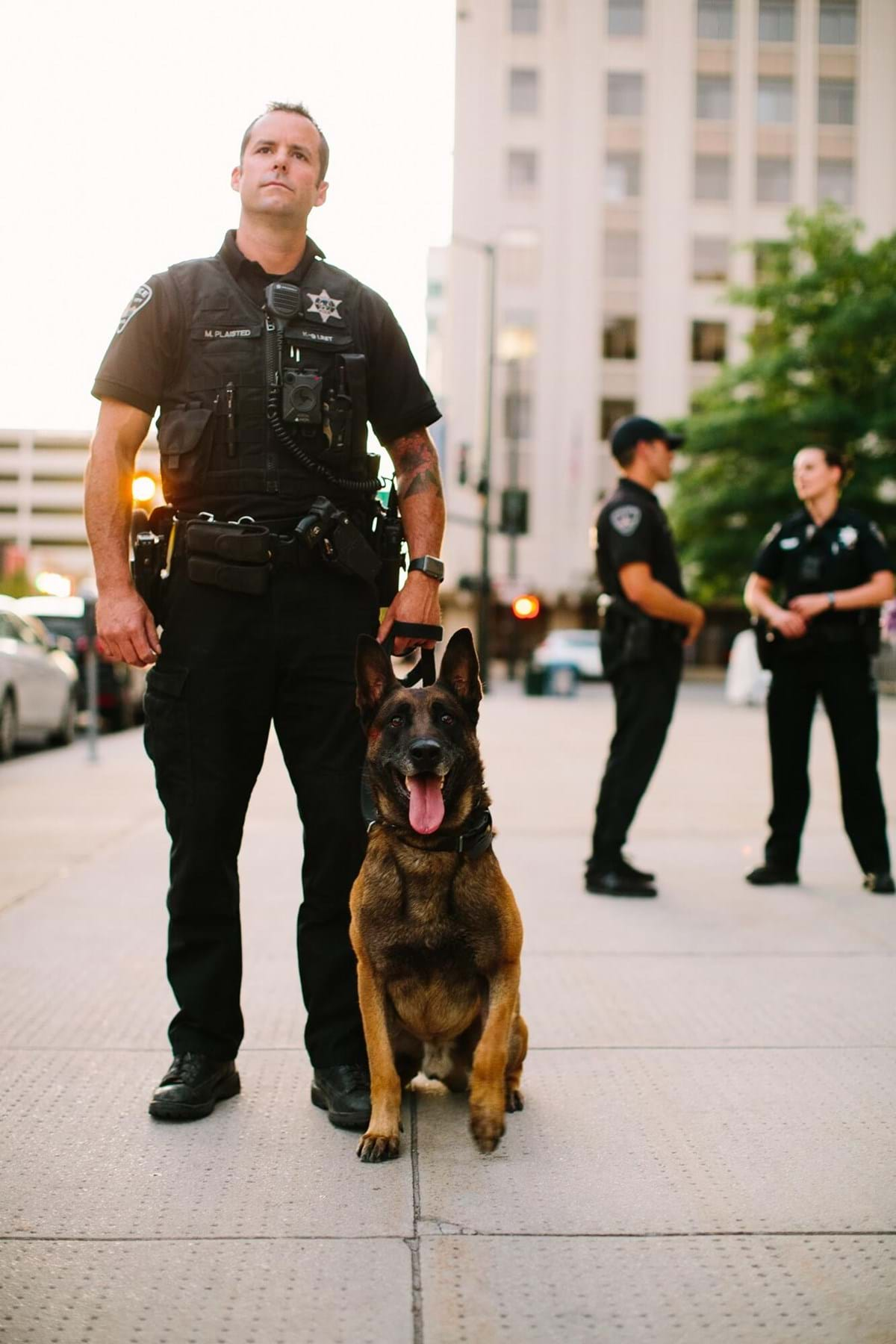 Officer with K9 unit