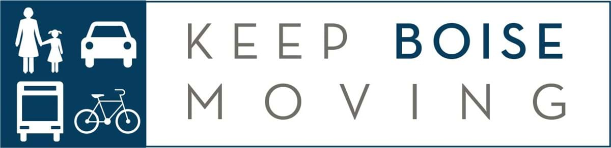 "Logo that reads ""Keep Boise Moving"""